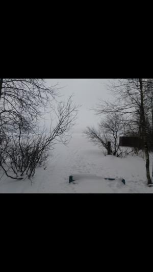 наше озеро зимой