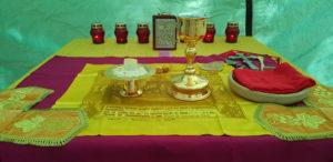 Престол в храме-палатке