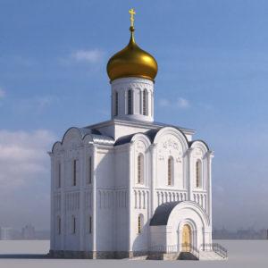 """Макет храма во имя иконы Божией Матери """"Споручница Грешных"""", д. Васкелово."""