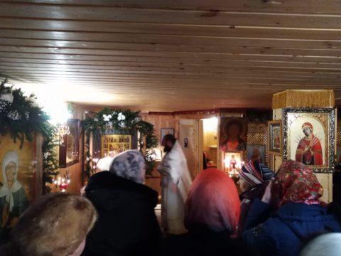 Рождество Христово в д. Васкелово
