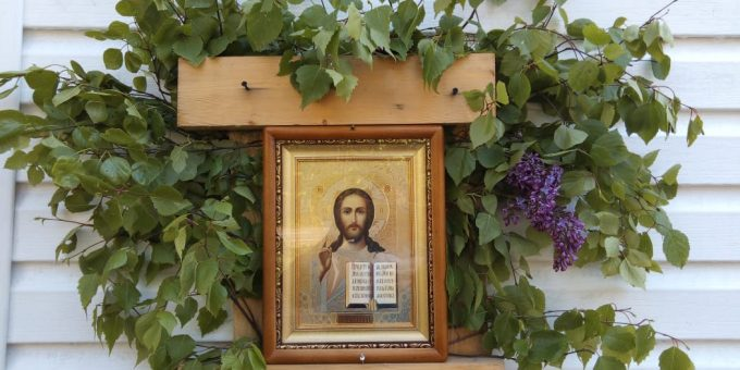 """Празднование Пятитдесятницы в харме во имя иконы Божией Матери """"Споручница грешных""""д. Васкелово"""